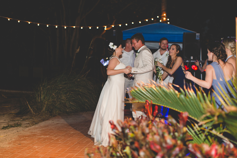 Bride and Groom first dance - Beach Wedding Photos - destination Orlando wedding photographer - Jaime DiOrio