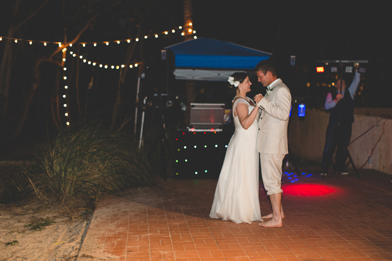 First Dance for Bride and Groom - Beach Wedding Photos - destination Orlando wedding photographer - Jaime DiOrio