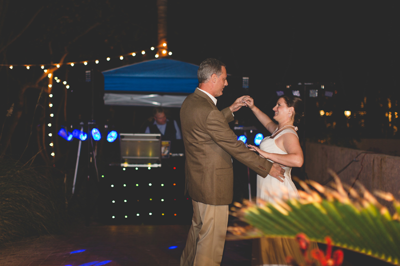 Father Daughter Dance - Beach Wedding Photos - destination Orlando wedding photographer - Jaime DiOrio