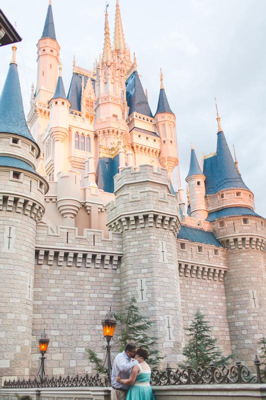 Disney castle at sunset - Jaime DiOrio Disney Photographer-Magic Kingdom photo shoot-Disney family session - family photos.jpg