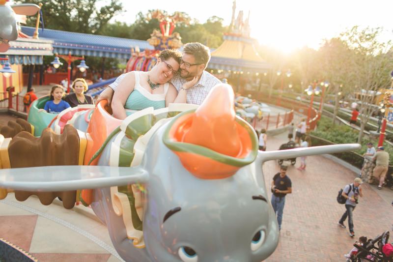 Jaime DiOrio Disney Photographer-Magic Kingdom photo shoot-Disney family session - family photos - couple on Dumbo ride.jpg