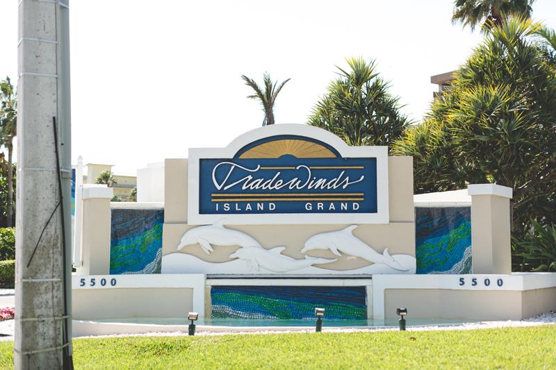 Tradewinds Island Grand Resort beach wedding - st pete beach - Jaime DiOrio Photography - Destination Orlando wedding photographer -  (5) resort sign.JPG