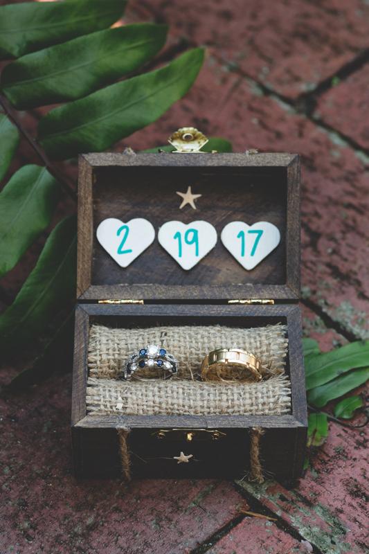 Tradewinds Island Grand Resort beach wedding - st pete beach - Jaime DiOrio Photography - Destination Orlando wedding photographer -  (8) bride and groom wedding rings in wooden box.JPG