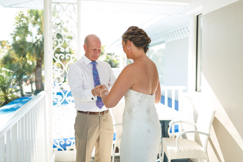 Dad first look at wedding - Tradewinds Island Grand Resort beach wedding - st pete beach - Jaime DiOrio Photography - Destination Orlando wedding photographer -  (24).JPG
