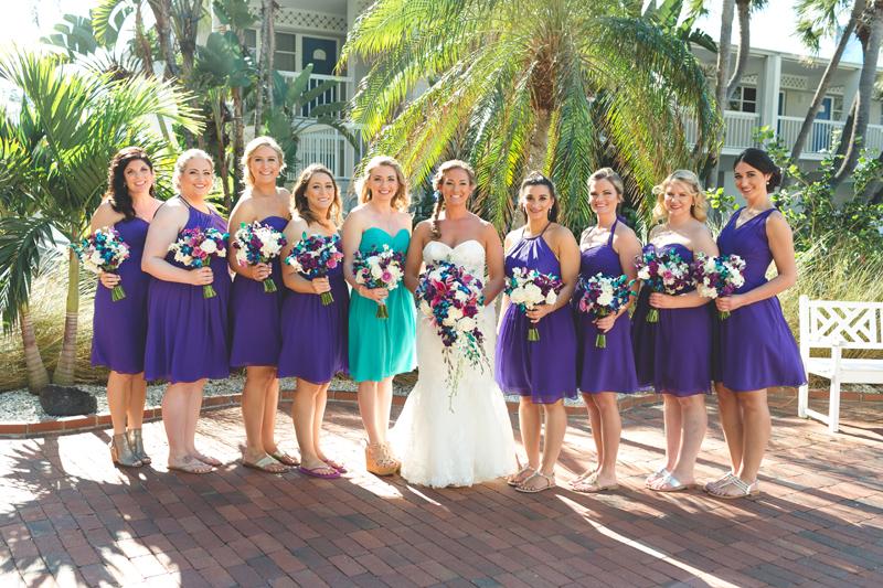 Bridal Party - Bridesmaids - Purple dresses - Tradewinds Island Grand Resort beach wedding - st pete beach - Jaime DiOrio Photography - Destination Orlando wedding photographer -  (26).JPG