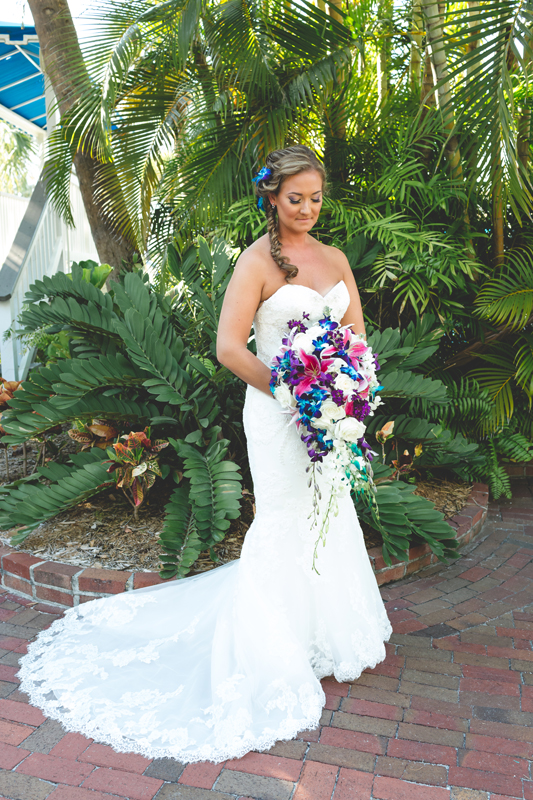 Bridal Portrait with bouquet - Tradewinds Island Grand Resort beach wedding - st pete beach - Jaime DiOrio Photography - Destination Orlando wedding photographer -  (29).JPG