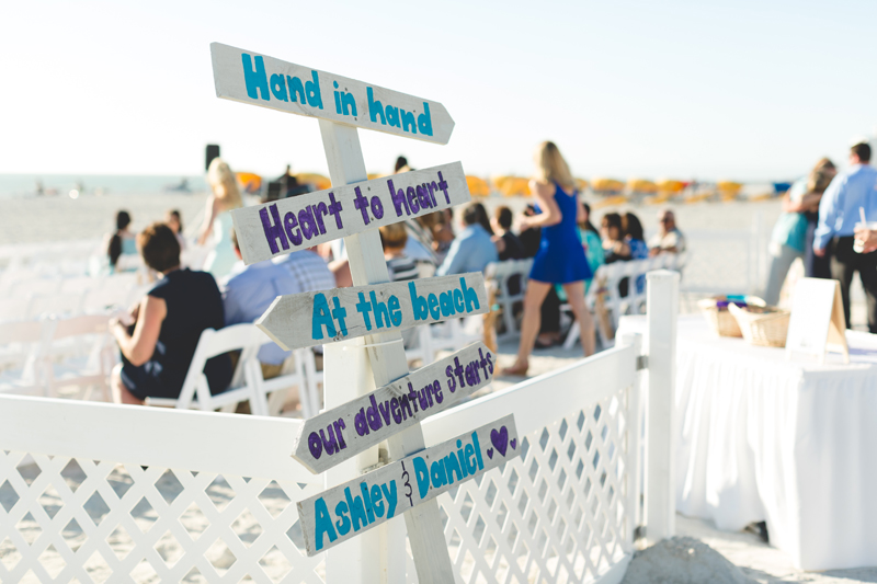 Ceremony sign - Tradewinds Island Grand Resort beach wedding - st pete beach - Jaime DiOrio Photography - Destination Orlando wedding photographer -  (32).JPG