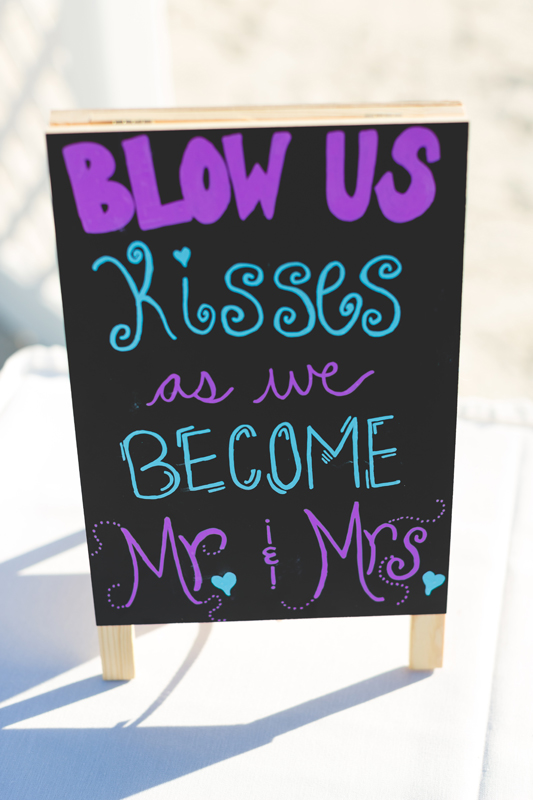 Bubble exit sign - Tradewinds Island Grand Resort beach wedding - st pete beach - Jaime DiOrio Photography - Destination Orlando wedding photographer -  (33).JPG