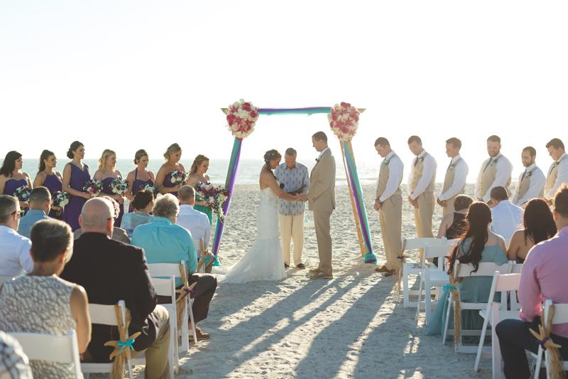 Beach ceremony at sunset - Tradewinds Island Grand Resort beach wedding - st pete beach - Jaime DiOrio Photography - Destination Orlando wedding photographer -  (44).JPG