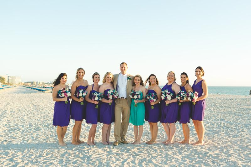 Groom with Bridesmaids - Tradewinds Island Grand Resort beach wedding - st pete beach - Jaime DiOrio Photography - Destination Orlando wedding photographer -  (51).JPG