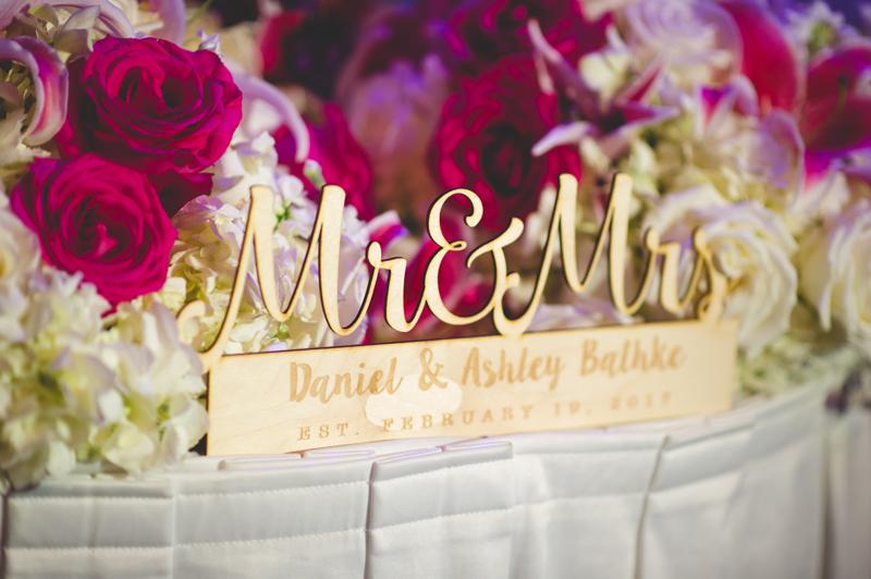 Wooden wedding sign mr and mrs - Tradewinds Island Grand Resort beach wedding - st pete beach - Jaime DiOrio Photography - Destination Orlando wedding photographer -  (61).JPG