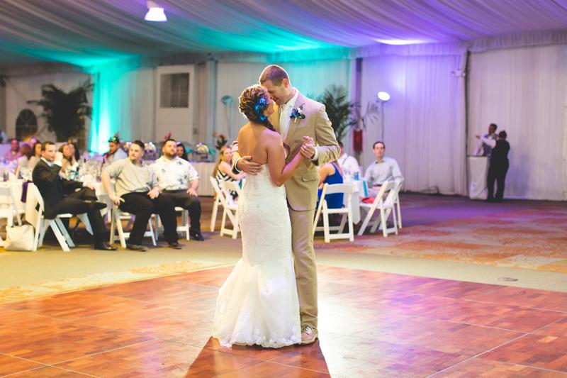 Bride and Groom First Dance - Tradewinds Island Grand Resort beach wedding - st pete beach - Jaime DiOrio Photography - Destination Orlando wedding photographer -  (64).JPG