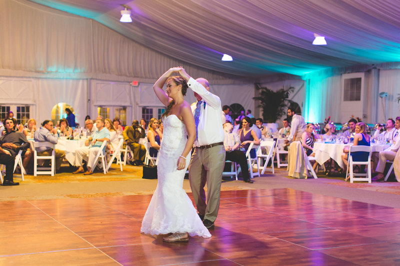 Father Daughter dance at beach wedding - Tradewinds Island Grand Resort beach wedding - st pete beach - Jaime DiOrio Photography - Destination Orlando wedding photographer -  (66).JPG
