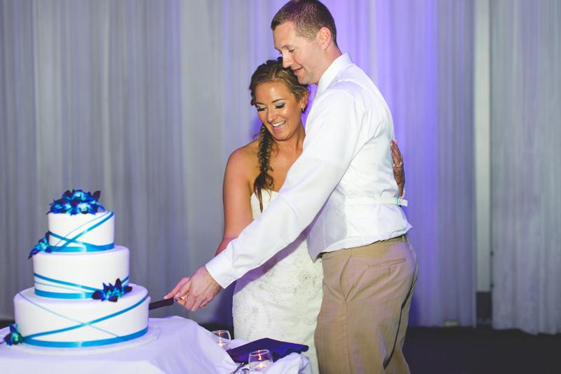 Wedding cake - Tradewinds Island Grand Resort beach wedding - st pete beach - Jaime DiOrio Photography - Destination Orlando wedding photographer -  (69).JPG
