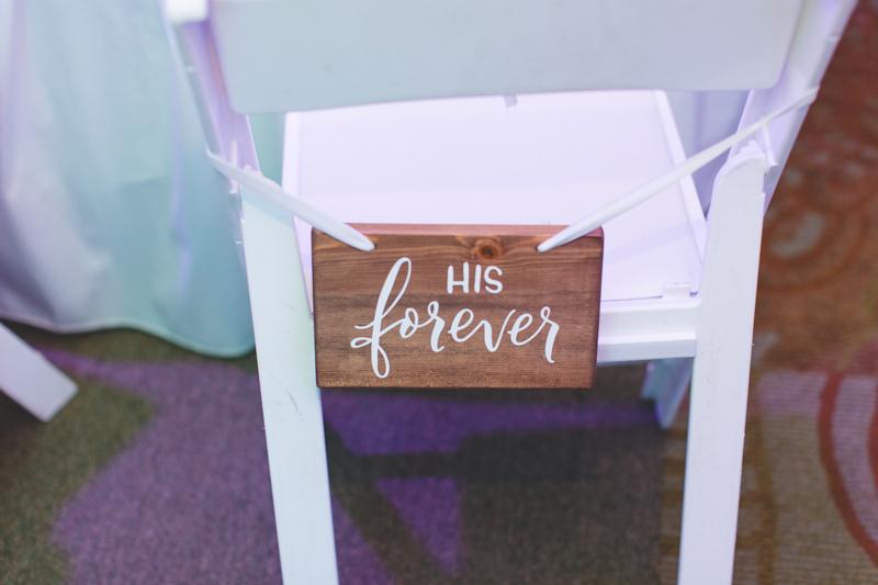 His Forever chair at reception - Tradewinds Island Grand Resort beach wedding - st pete beach - Jaime DiOrio Photography - Destination Orlando wedding photographer -  (73).JPG