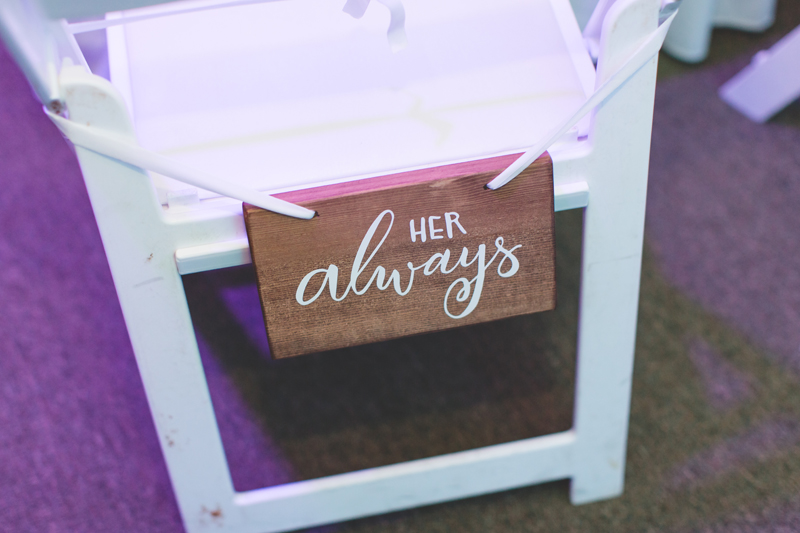 Her always chair at reception - Tradewinds Island Grand Resort beach wedding - st pete beach - Jaime DiOrio Photography - Destination Orlando wedding photographer -  (74).JPG