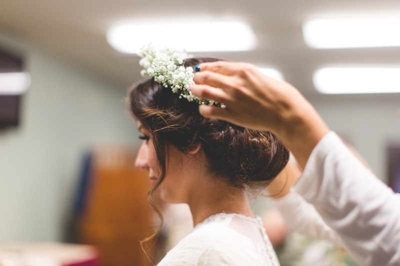 Bride getting ready with flower crown - bohemian inspired outdoor wedding at Mission Inn Resort - howey in the hills fl - destination orlando wedding photographer - Jaime DiOrio (9).jpg