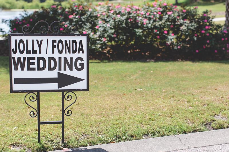 wedding sign - bohemian inspired outdoor wedding at Mission Inn Resort - howey in the hills fl - destination orlando wedding photographer - Jaime DiOrio (14).jpg