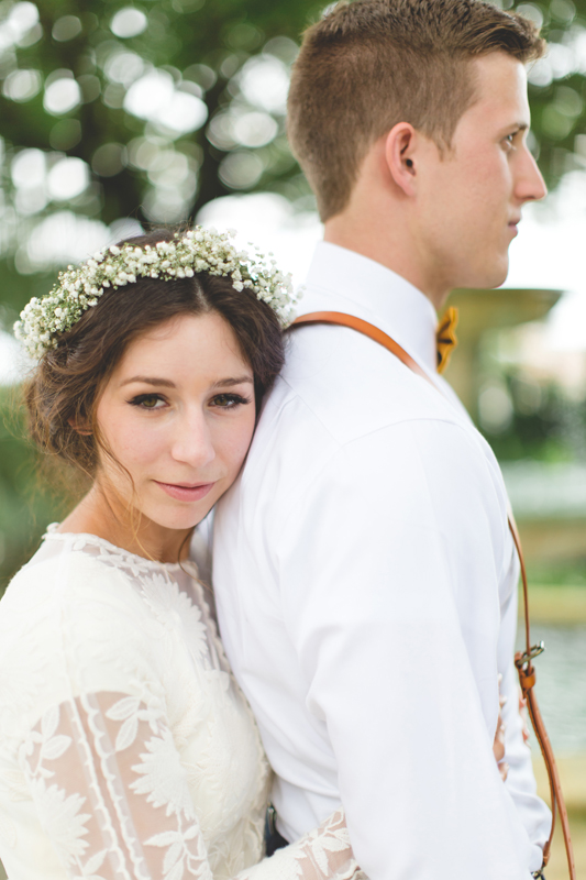 Bride poses with Groom - bohemian inspired outdoor wedding at Mission Inn Resort - howey in the hills fl - destination orlando wedding photographer - Jaime DiOrio (22).jpg