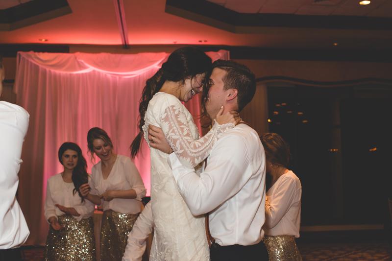 Bride and Groom dancing at reception - bohemian inspired outdoor wedding at Mission Inn Resort - howey in the hills fl - destination orlando wedding photographer - Jaime DiOrio (67).jpg