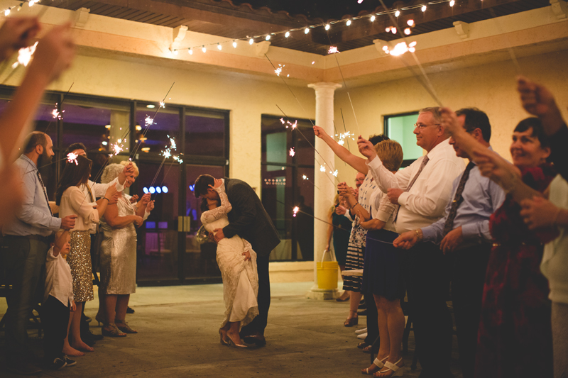 Wedding Sparkler Exit - bohemian inspired outdoor wedding at Mission Inn Resort - howey in the hills fl - destination orlando wedding photographer - Jaime DiOrio (80).jpg
