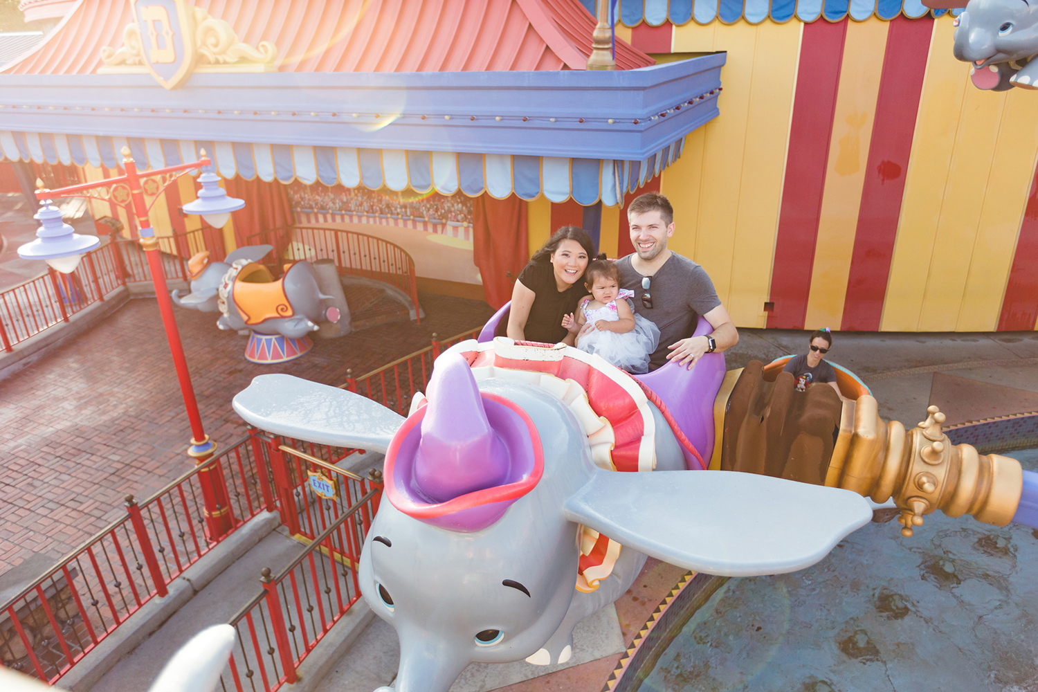 Disney Family Session - Jaime DiOrio Photography - Family on Dumbo Ride photo - Magic Kingdom Family Session.jpg