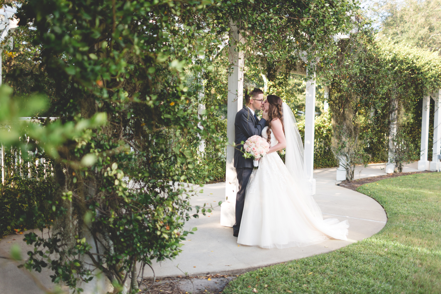 Classic Outdoor Wedding Portrait Lake Mary Events Center