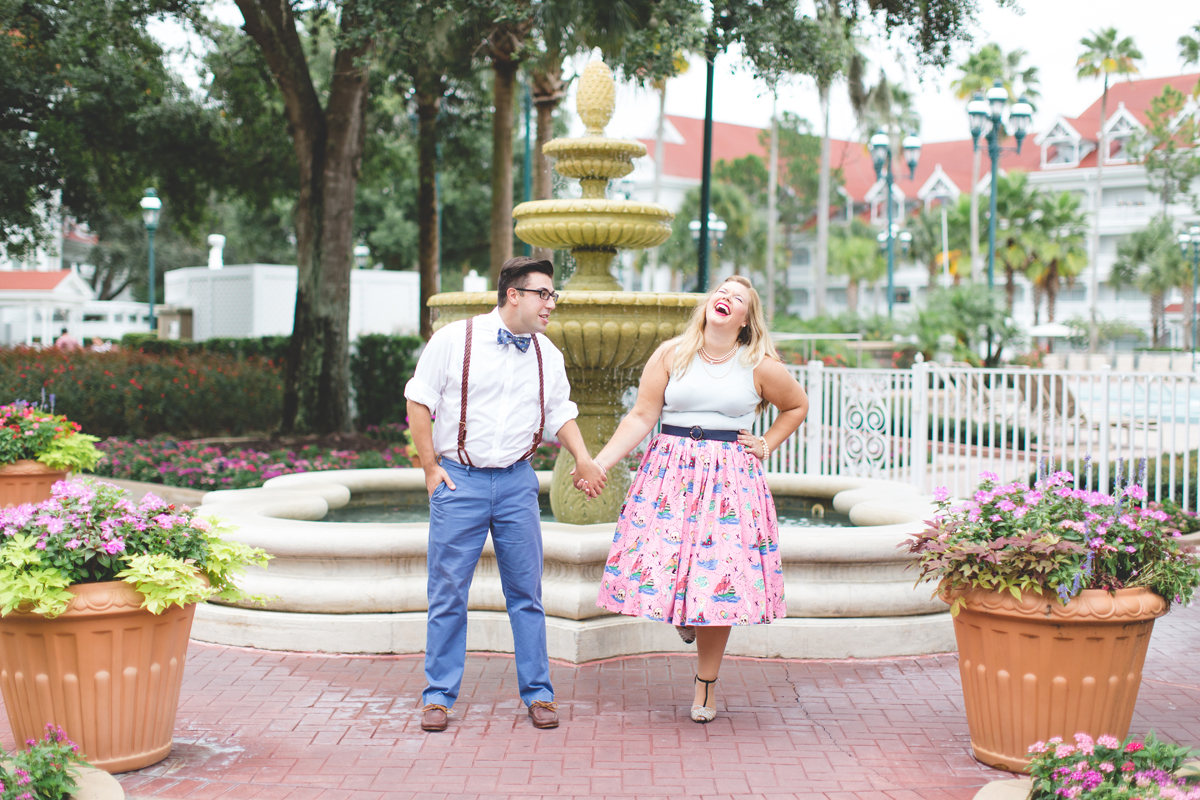 Disney engagement Session - Disney Engagement Photographer - Magic Kingdom Engagement Photos - Jaime DiOrio - Destination Orlando Wedding Photographer (16).jpg