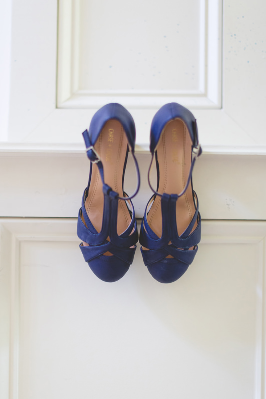 Bride something blue shoes with straps
