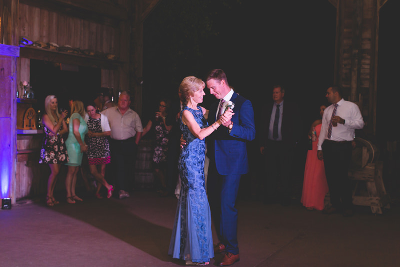 Mother Son Dance at Spring Barn Wedding Reception