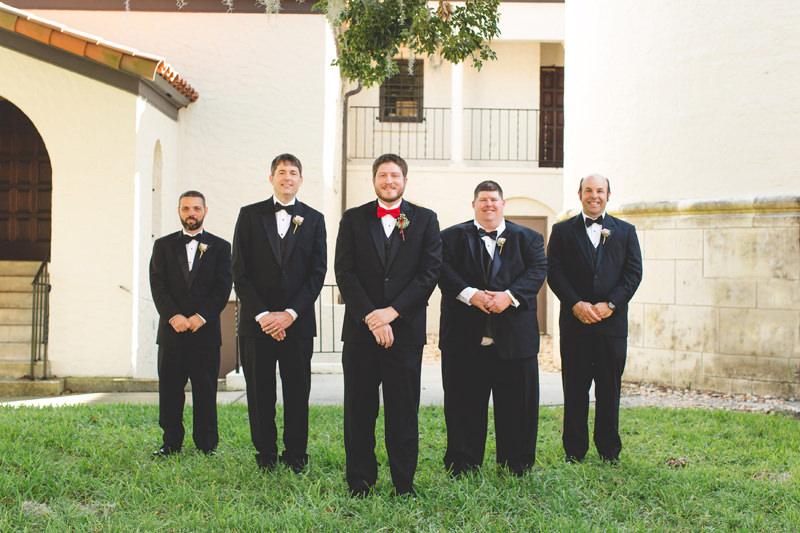 Groom and Groomsmen at Knowles Memorial Chapel wedding