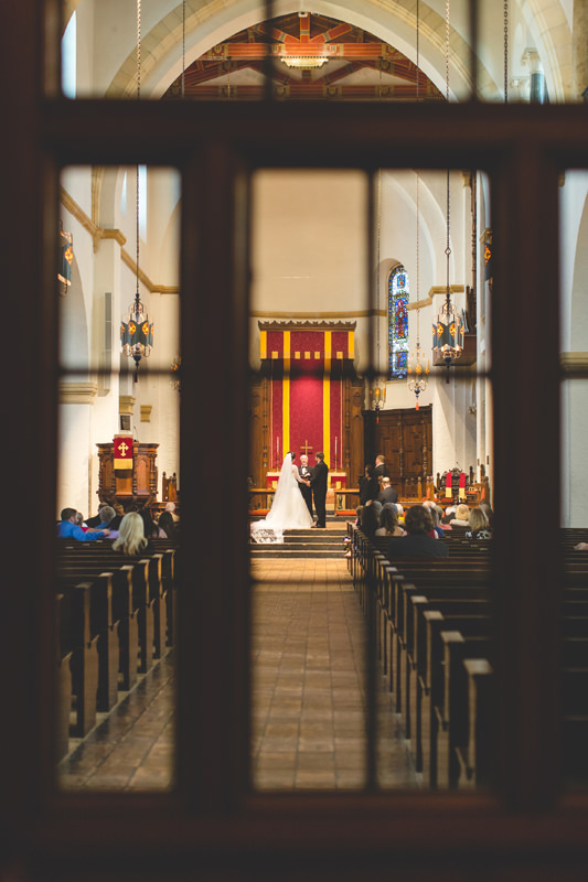 Ceremony Photo at Knowles Memorial Chapel at Rollins College Disney Themed Wedding