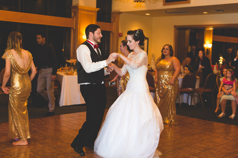 Bride and Groom first dance at Disney inspired wedding