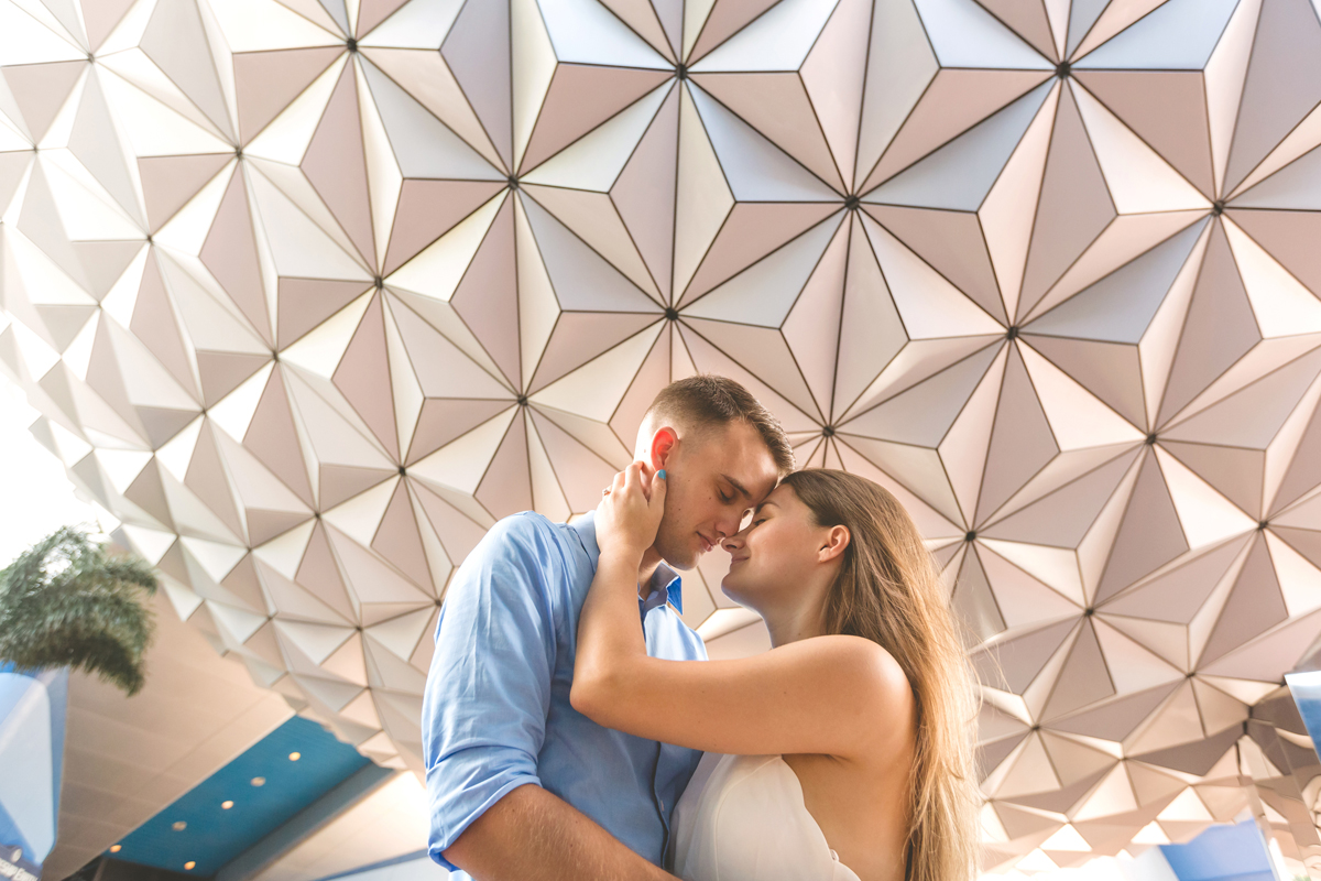 Epcot Engagement Photos - Disney Engagement session - Jaime DiOrio Photography - Spaceship Earth Photo.jpg