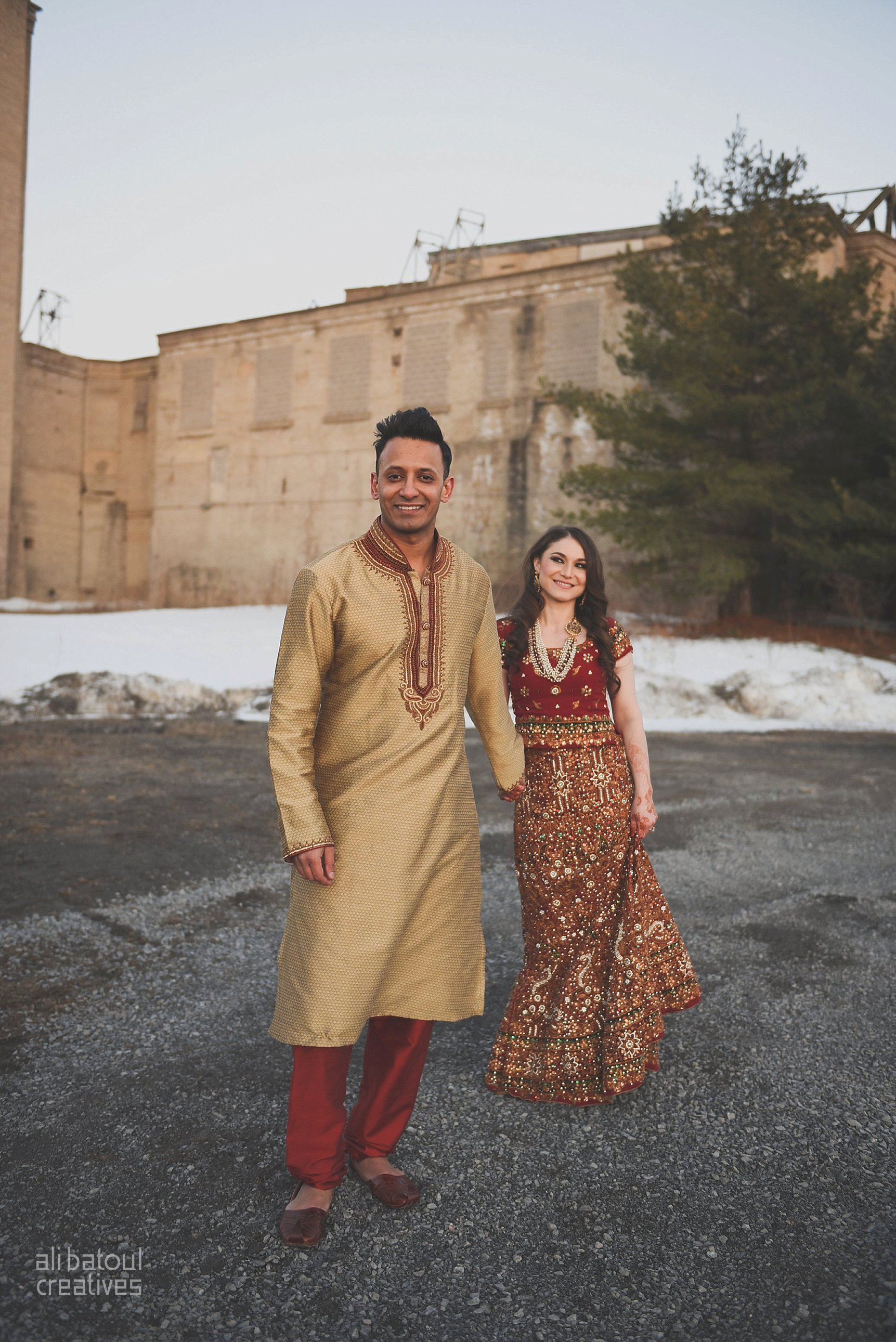 Indian-inspired bridal shoot - Ali Batoul Creatives (red)-112_Red Dress (BTS)