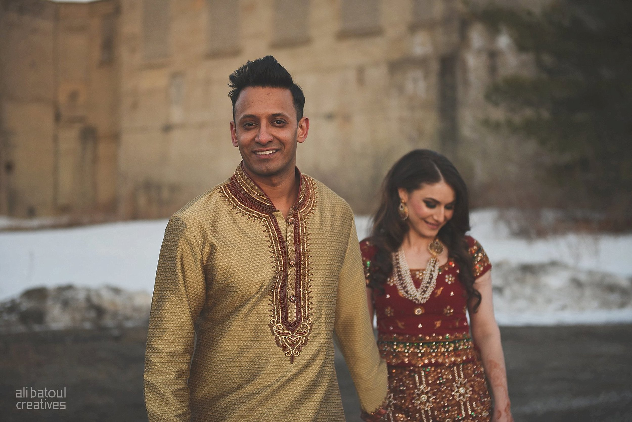 Indian-inspired bridal shoot - Ali Batoul Creatives (red)-114_Red Dress (BTS)