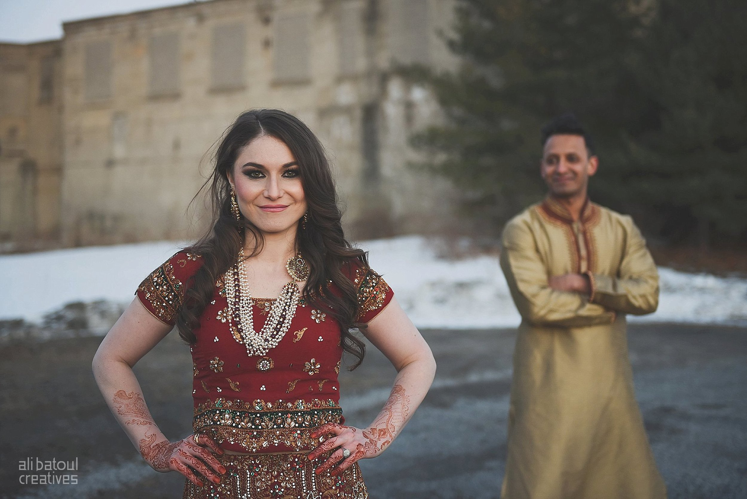 Indian-inspired bridal shoot - Ali Batoul Creatives (red)-146_Red Dress (BTS)