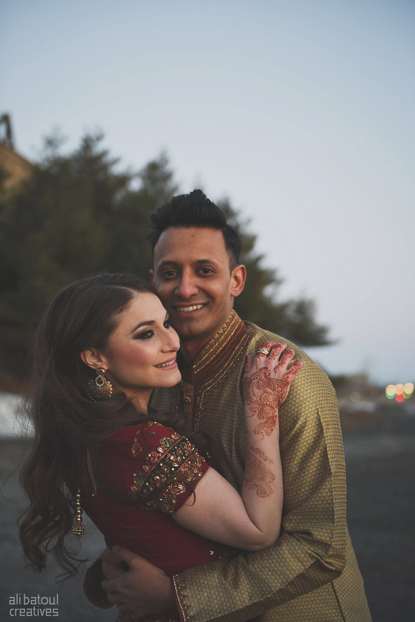 Indian-inspired bridal shoot - Ali Batoul Creatives (red)-176_Red Dress (BTS)