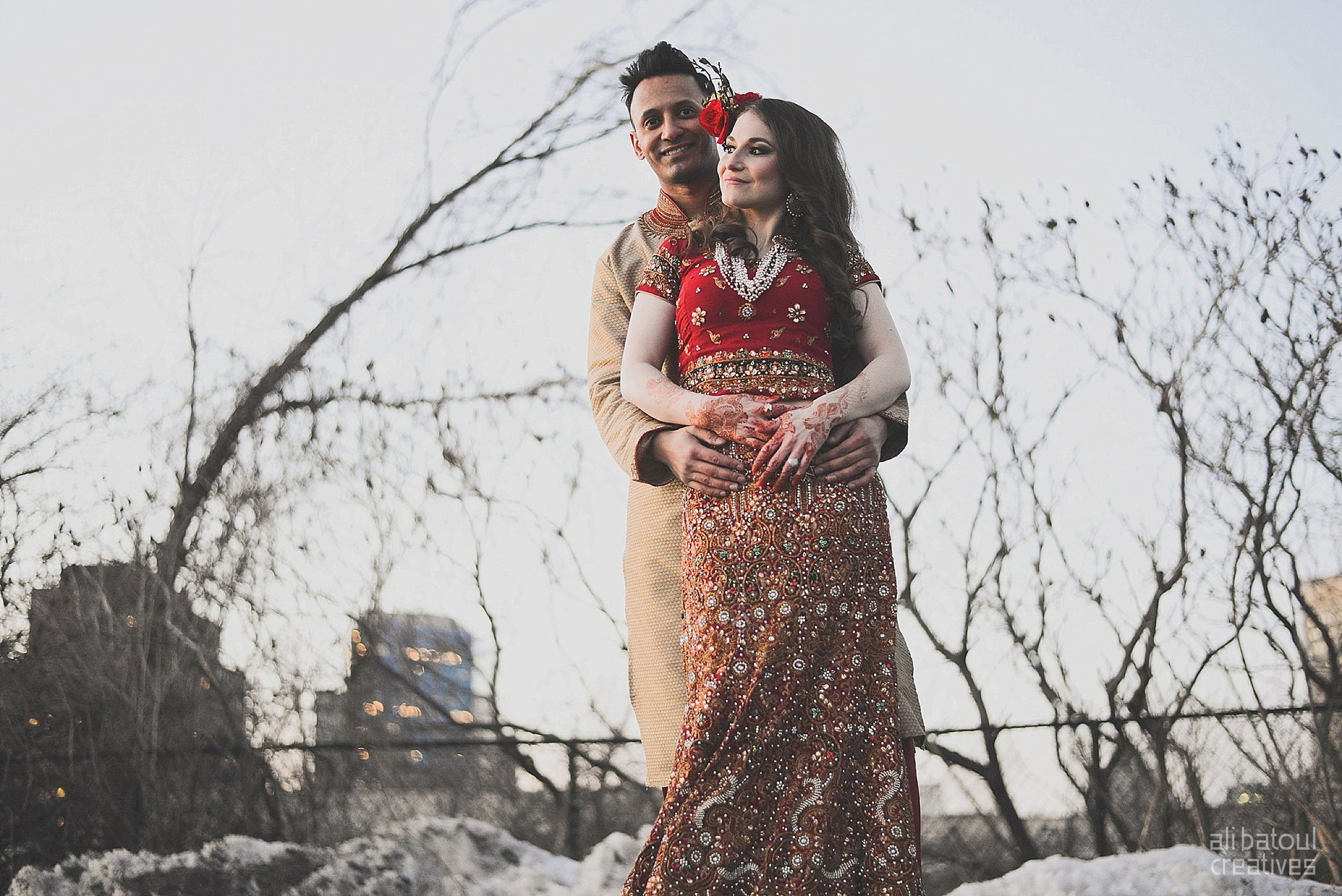 Indian-inspired bridal shoot - Ali Batoul Creatives (red)-214_Red Dress (BTS)