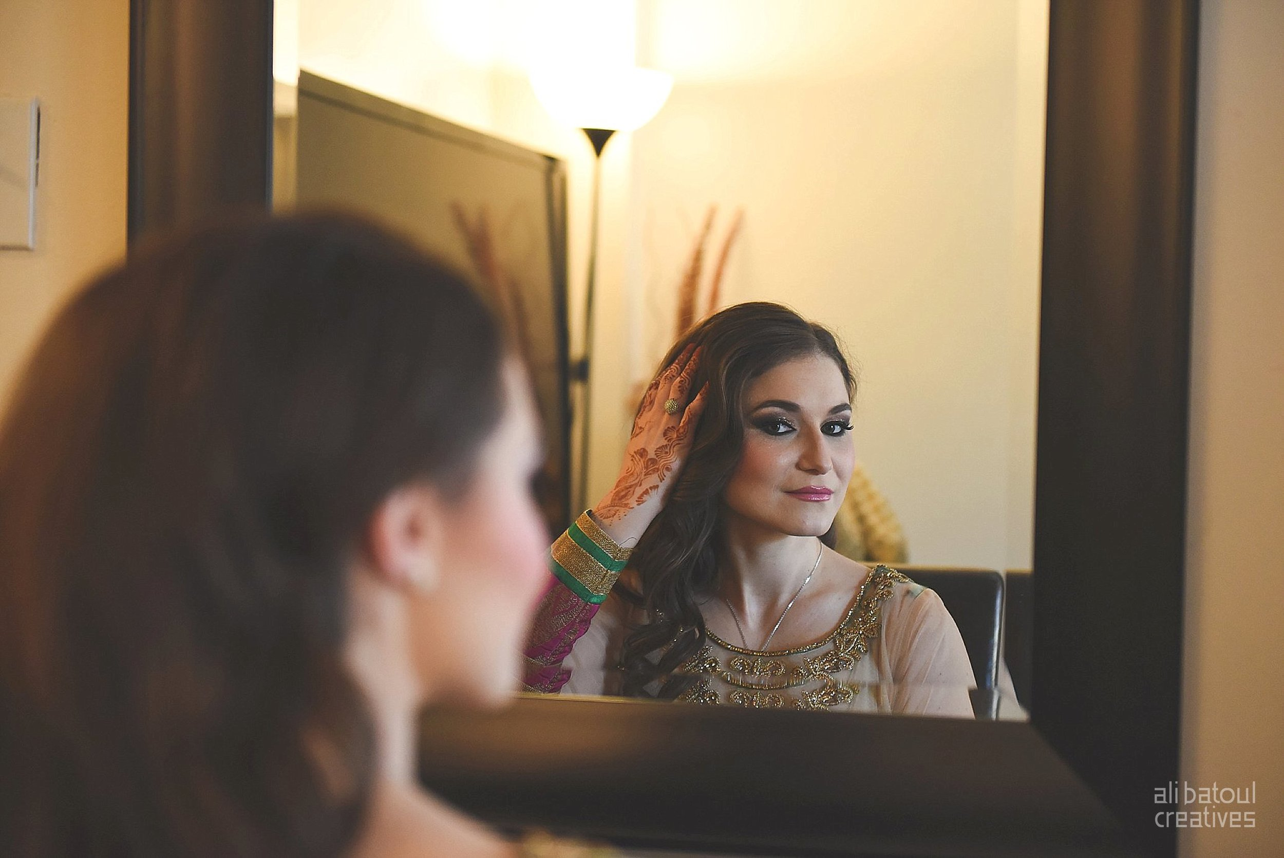 Indian-inspired bridal shoot - Ali Batoul Creatives-2_Green_Red Dress (BTS)