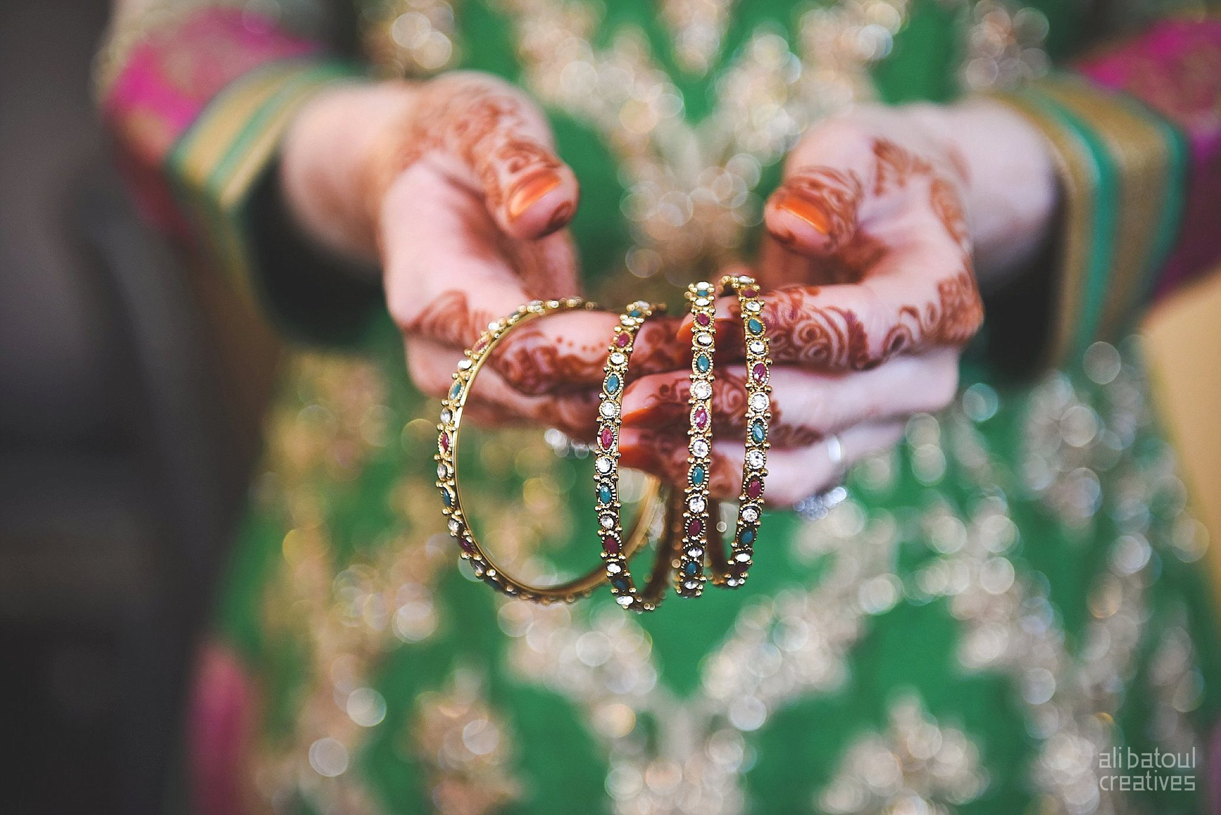 Indian-inspired bridal shoot - Ali Batoul Creatives-4_Green_Red Dress (BTS)