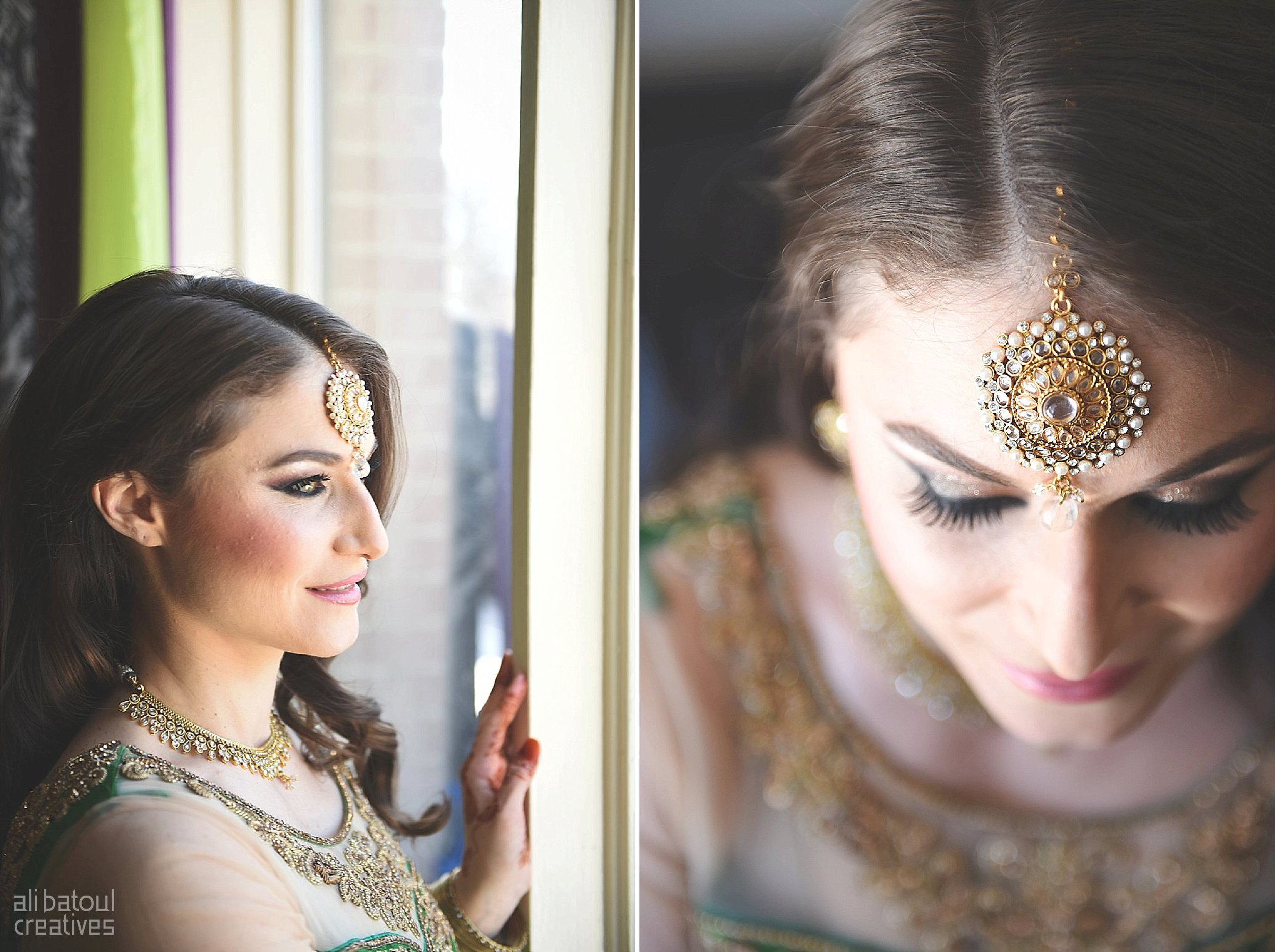 Indian-inspired bridal shoot - Ali Batoul Creatives-5_Green_Red Dress (BTS)