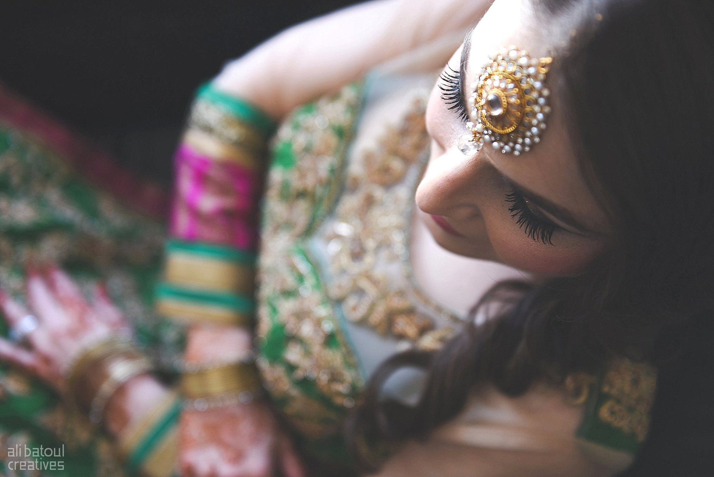 Indian-inspired bridal shoot - Ali Batoul Creatives-6_Green_Red Dress (BTS)