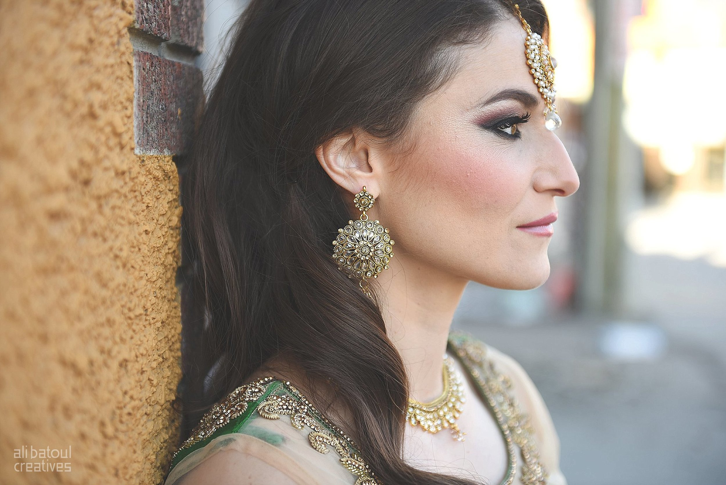 Indian-inspired bridal shoot - Ali Batoul Creatives-9_Green_Red Dress (BTS)