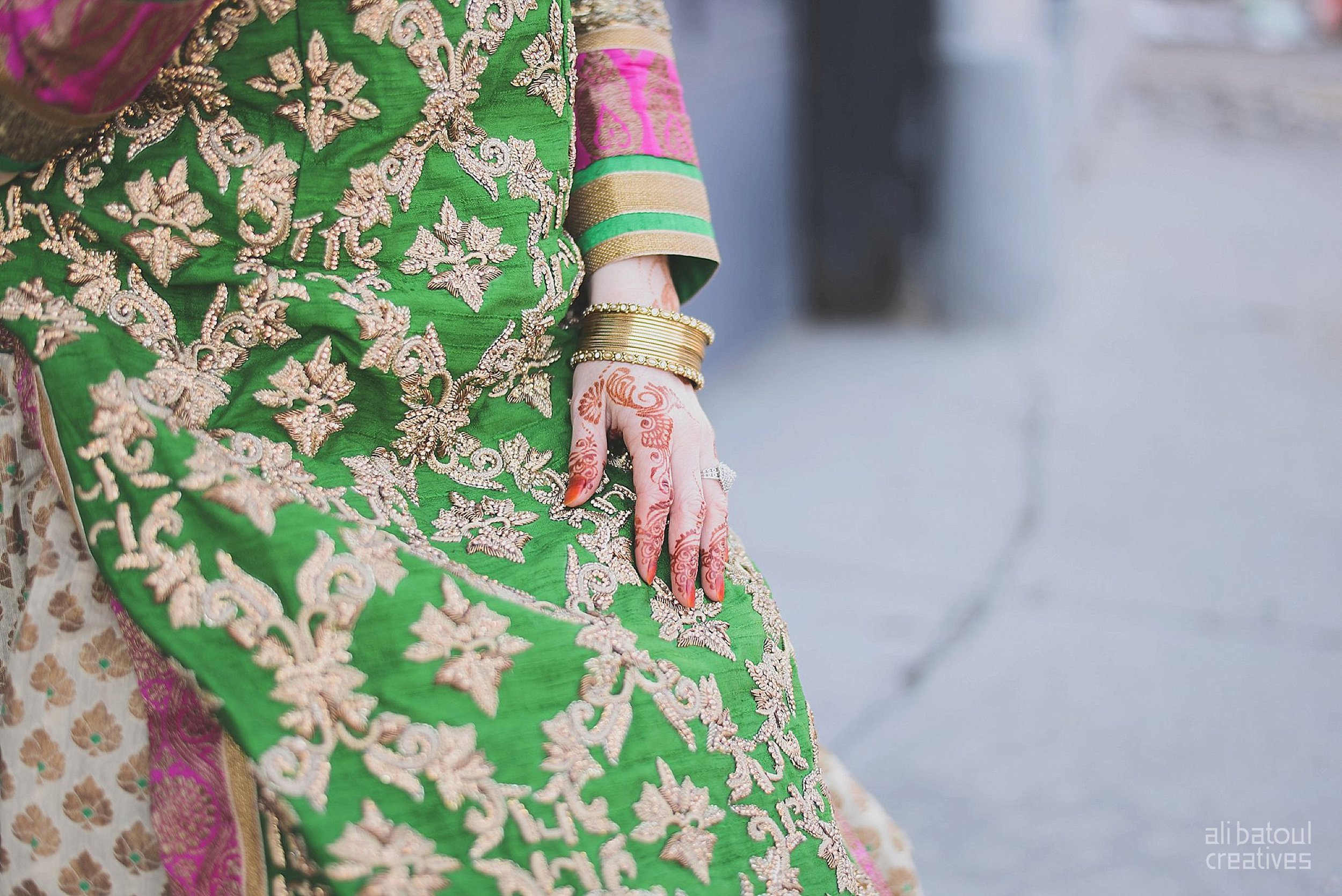 Indian-inspired bridal shoot - Ali Batoul Creatives-11_Green_Red Dress (BTS)