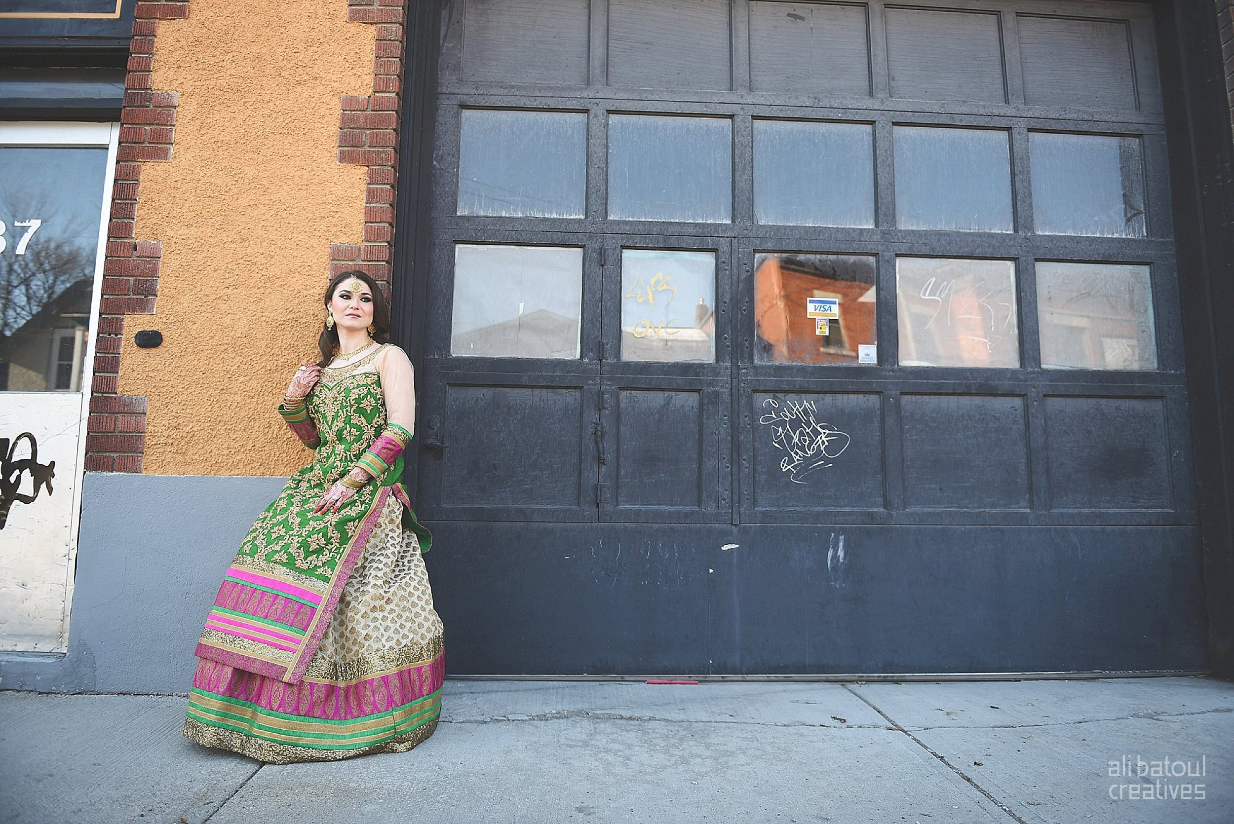 Indian-inspired bridal shoot - Ali Batoul Creatives-12_Green_Red Dress (BTS)