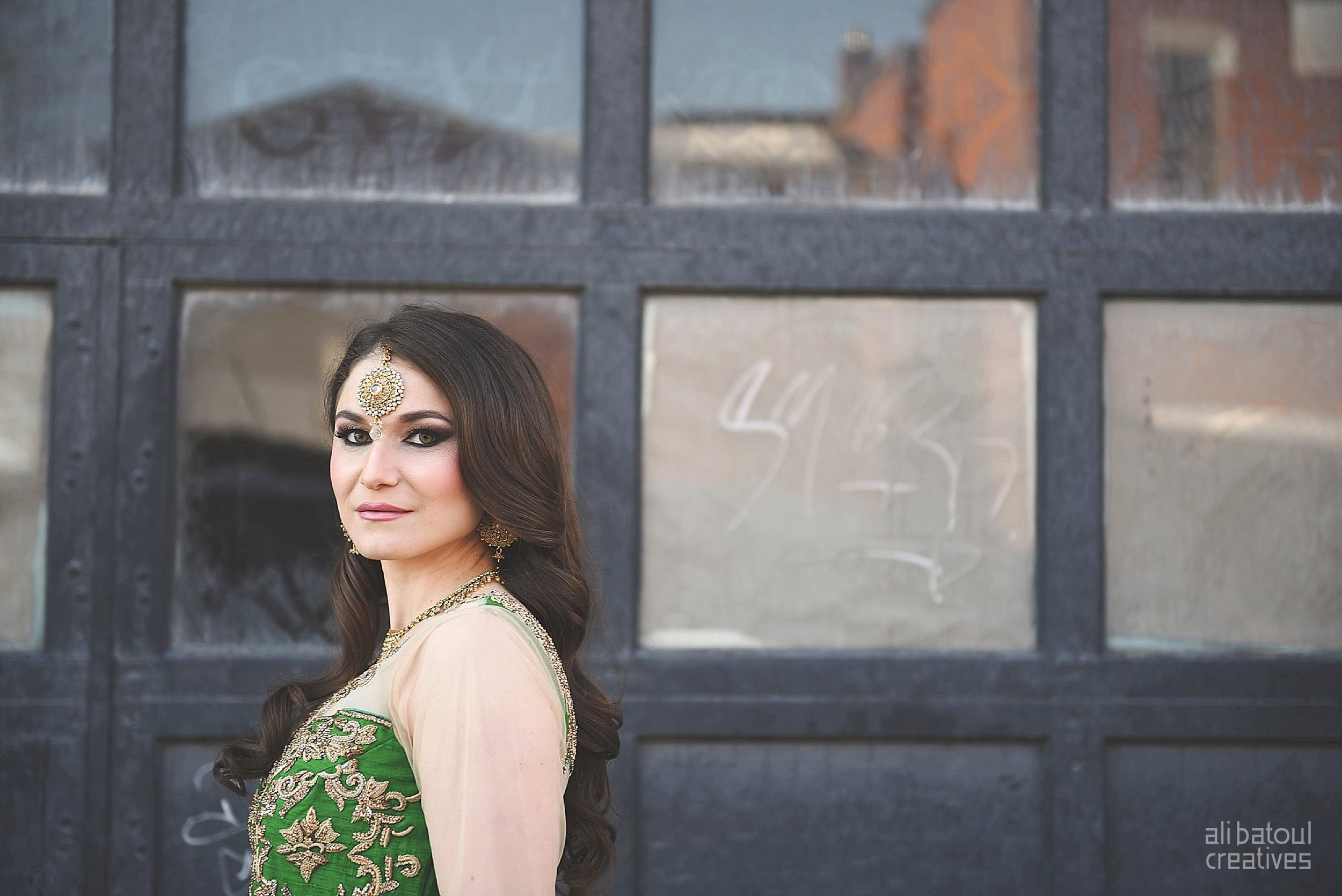 Indian-inspired bridal shoot - Ali Batoul Creatives-13_Green_Red Dress (BTS)