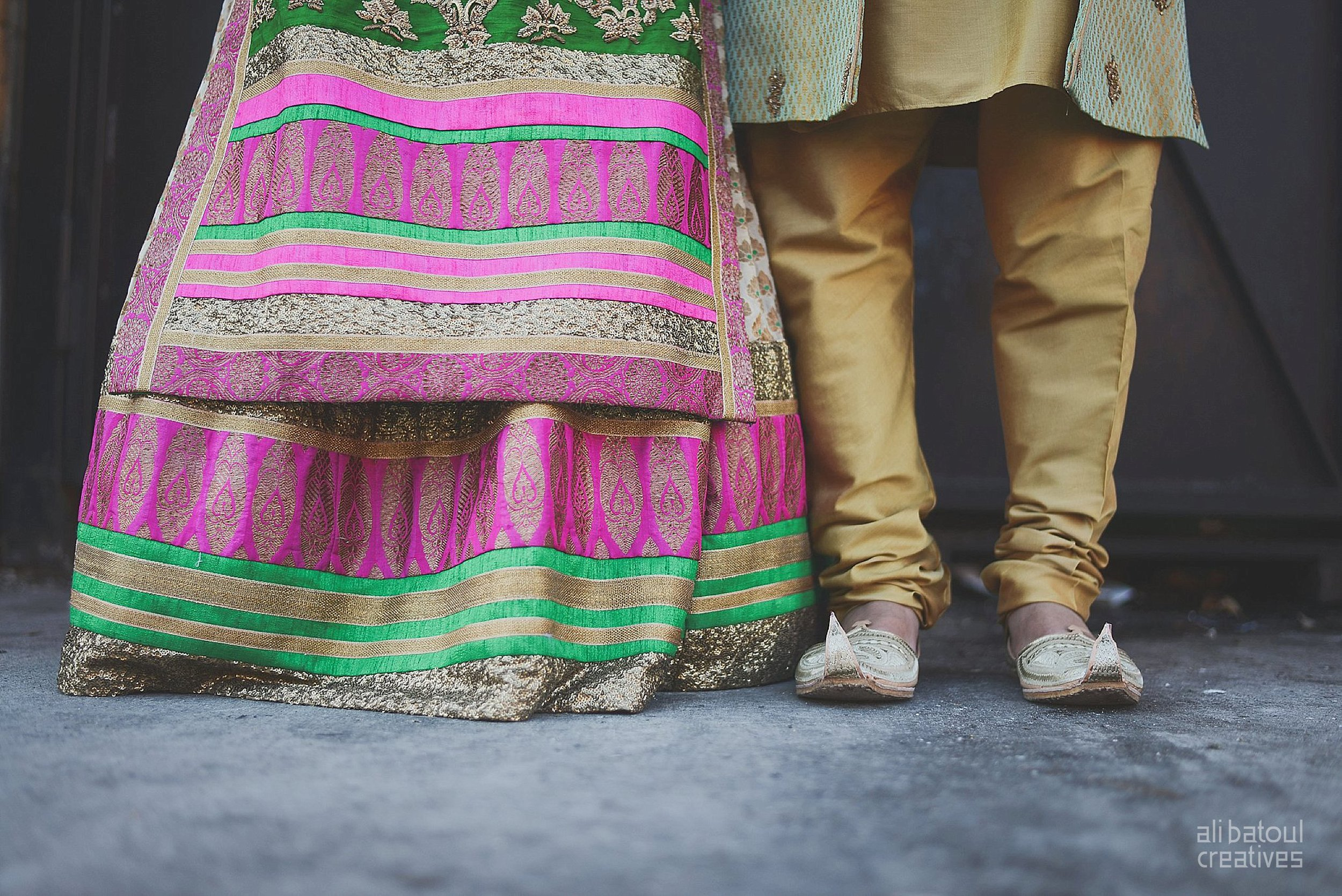 Indian-inspired bridal shoot - Ali Batoul Creatives-16_Green_Red Dress (BTS)