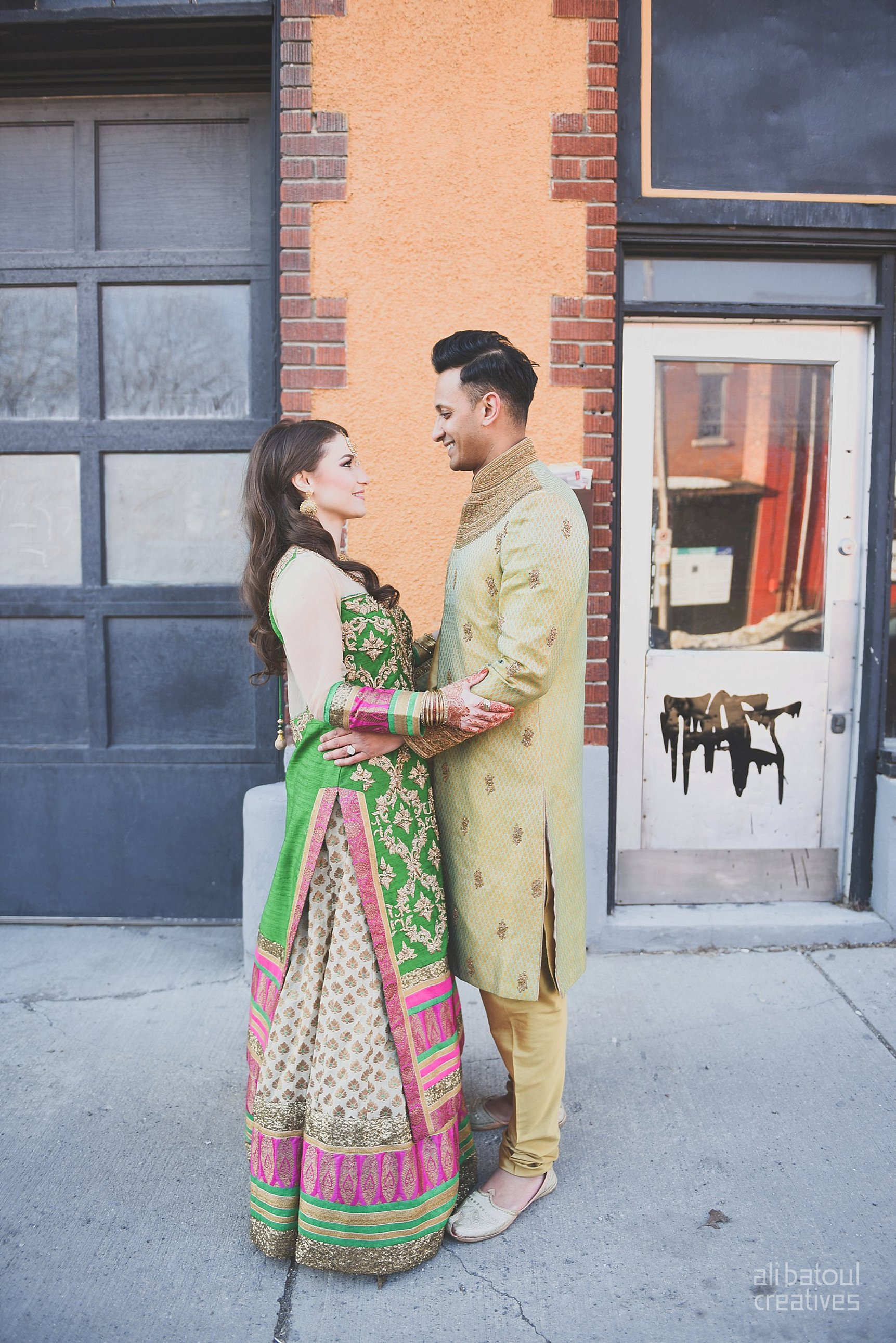 Indian-inspired bridal shoot - Ali Batoul Creatives-18_Green_Red Dress (BTS)