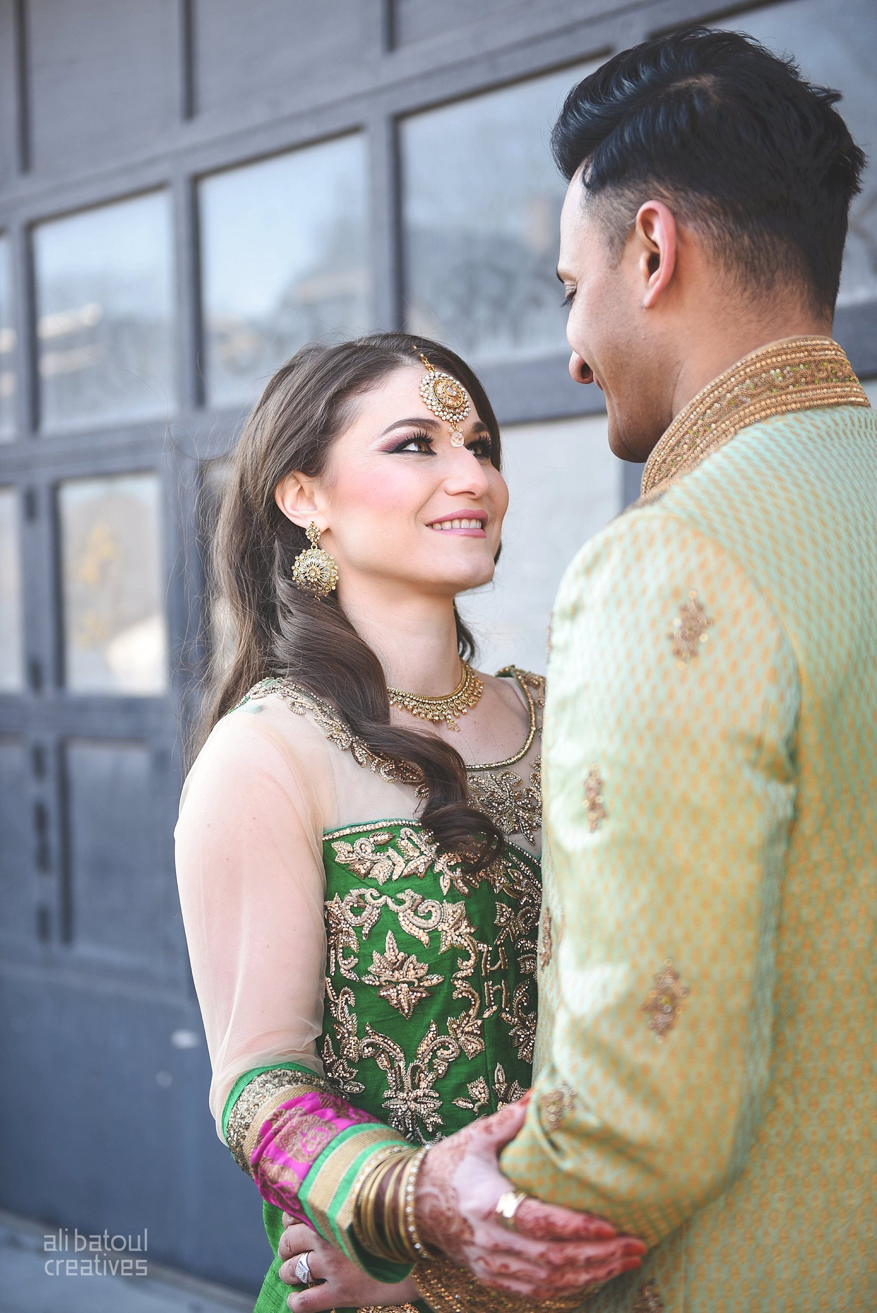 Indian-inspired bridal shoot - Ali Batoul Creatives-19_Green_Red Dress (BTS)